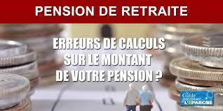 erreurs calculs retraite